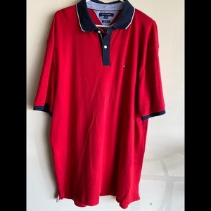 Men's red Tommy Hilfiger polo shirt. 2XL. EUC
